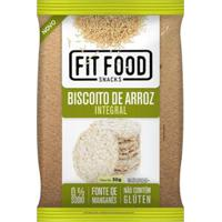 Biscoito De Arroz Integral 30G Fit Food - Unissex