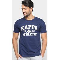 Camiseta Kappa Athletic Masculina - Masculino-Marinho