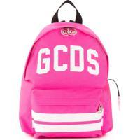 Gcds Kids Logo Print Backpack - Rosa