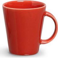 Conjunto De Canecas Basic Em Cerâmica 208 Ml Com 04 Peças Vermelho - Porto Brasil