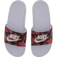 Chinelo Nike Benassi Jdi Print - Slide - Masculino - Branco/Preto