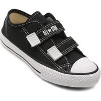 Tênis Infantil Converse All Star Ct Border 2 Velcros - Unissex-Preto