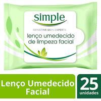 Lenços Umedecidos De Limpeza Simple 25 Unidades - Feminino-Incolor