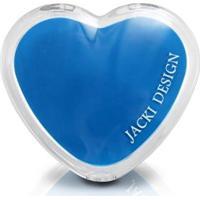 Espelho De Bolsa Coração Jacki Design De Poliestireno + Vidro - Feminino-Azul
