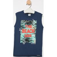 "Regata ""The Beach Side"" - Azul Marinho & Laranja- Titime Kids"