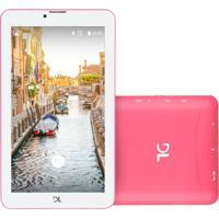 "Tablet Dl Mobi 7"" Wi-Fi 8Gb Quad Core Tx384 Rosa"