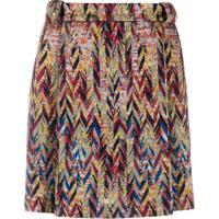 Missoni Zigzag Mini-Skirt - Marrom