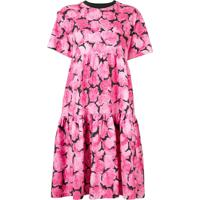 Kenzo Vestido Evasê Com Estampa Floral - Rosa