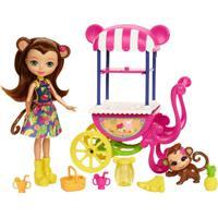 Boneca Fashion E Veículo - Enchantimals - Merit Monkey - Mattel - Feminino-Incolor