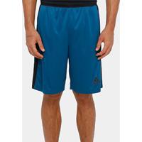 Short Adidas D2M 3S Masculino - Masculino-Azul Petróleo+Preto