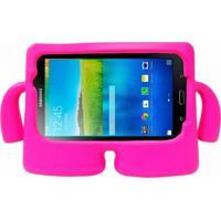 """Capa Boneco Iguy Infantil Para Tablet Samsung Galaxy Tab3 7"""" Sm-T110 T111 T113 T116 + Película De Vidro Rosa Escuro"""