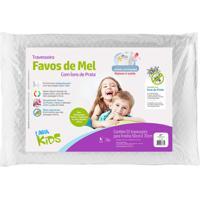 Travesseiro Fibrasca Favos De Mel Kids BrancoâPara Fronhas 50X70Cm - Branco - Dafiti