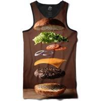 Camiseta Bsc Regata Snack Full Print - Masculino-Preto