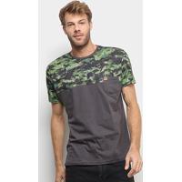 Camiseta Hd Especial Soldier Masculina - Masculino-Cinza