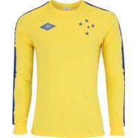 Camisa De Goleiro Do Cruzeiro Umbro 1966 Retrô - Masculina - Amarelo/Azul