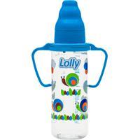 Mamadeira Zoo Com Alça Lolly Baby Azul