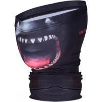 Bandana Go Fisher Proteção Solar Uv 50 Tubarão - Tbgo13 - Masculino-Preto