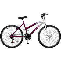 Bicicleta Master Bike Aro 26 Feminina Emotion 18 Marchas Violeta E Branco