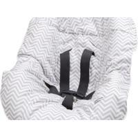 Capa Protetora Para Bebê Conforto Chevron Tribeca Enxovais Cinza