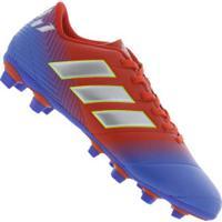 Chuteira De Campo Adidas Nemeziz Messi 18.4 Fxg - Adulto - Vermelho Azul 8a47ab0d03e45