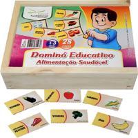 Dominó Educativo Educativo Alimentação Saudável - Fundamental
