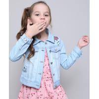 Jaqueta Jeans Infantil Com Unicórnio E Paetês Azul Claro