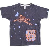 ... Camiseta Infantil Lápis De Cor Com Silk Masculino - Masculino-Marinho f826a62ed3e99