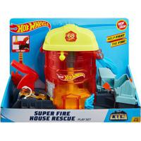 Pista Hot Wheels - Super Quartel Dos Bombeiros - Mattel