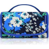 Necessaire Rocambole Jacki Design Nylon - Feminino-Azul+Preto