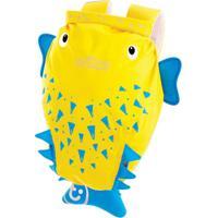 Mochila Infantil Trunki - Modelo Paddlepak - Peixe Espinho - Unissex-Amarelo