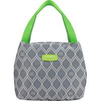 Bolsa Térmica Geométrica- Cinza & Verde Limão- 23X19Jacki Design