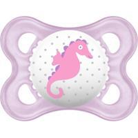 Chupeta Pearl Silk Touch Girls - Fase 1 - Mam - Feminino-Lilás