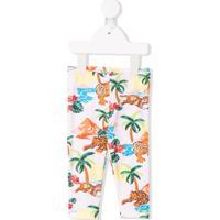 Kenzo Kids Legging Com Estampa Jungle - Rosa