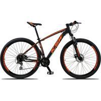 Bicicleta Aro 29 Ksw Xlt 24V Câmbios Shimano Acera Rd-360 Freio A Disco Hidráulico Com Suspensão - Unissex