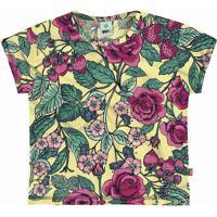Blusa Floral - Amarela & Verdepuc