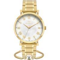 Relógio Technos Dress + Pulseira Feminino - Feminino-Dourado