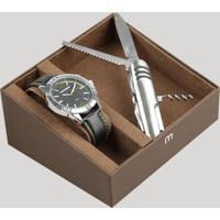 Kit De Relógio Analógico Mondaine Masculino + Canivete - 83392G0Mvnh1Ka Preto - Único