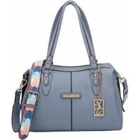 Bolsa Fellipe Krein Bucket Feminina - Feminino-Azul Claro