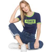 Blusa Ellus Power Flock Azul/Verde