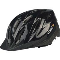 Capacete Para Ciclismo Mtb Tam. G Alças Ajustáveis E 19 Entradas De Ar Preto Atrio - Bi003 - Padrão