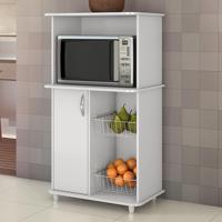 Armário De Cozinha Para Forno Com Fruteira 1 Porta Balli Branco New - Notavel