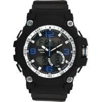 Relógio Speedo 81129G0Evnp4 Preto/Prata