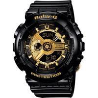 Relógio Feminino Casio G-Shock Baby-G Analógico Digital Ba-110-1Adr Preto