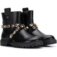 Florens Jewel-Strap Ankle Boots - Preto