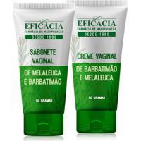 Kit Creme + Sabonete Vaginal De Barbatimão E Melaleuca
