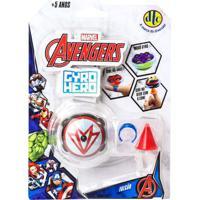 Pião De Batalha - Giro Hero - Disney - Marvel - Avengers - Falcão - Dtc