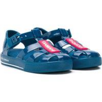 Dolce & Gabbana Kids Sapato Com Logo - Azul