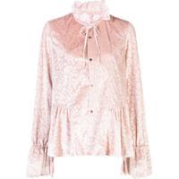 Renli Su Blusa De Veludo Com Estampa Floral - Rosa