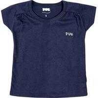Blusa Básica Bebê Menina Em Algodão E Aplicação De Print Puc [] []