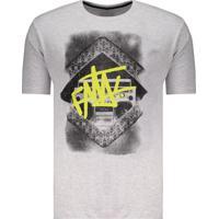 Camiseta Fatal Radio Skull Cinza Mescla